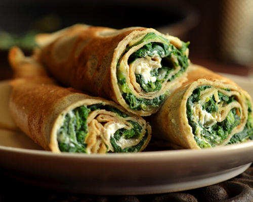 Ricotta and spinach Crepes